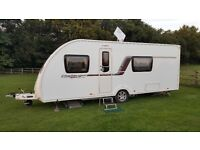 Swift Challenger Sport 554 SR with satellite TV and mover. Rear washroom. Fixed bed.