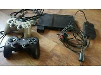 PLAYSTATION 2 , CONTROLLERS PLUS GAMES