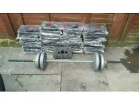 200kgs of maximuscle multi gym weight plates for sale