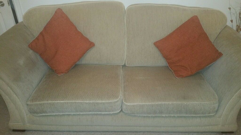 3 Seater & 2 Seater Sofa In Beige 10 years old but still in fair condition Free Buyer Collects