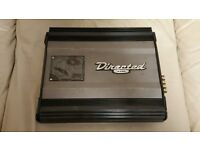 CAR AMPLIFIER DIRECTED 4200 4 CHANNEL STEREO AMP TO RUN THE SUBWOOFER OR DOOR SPEAKERS AMP