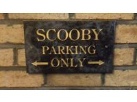 Subaru Scooby Parking Only Sign