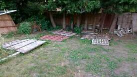 X5 used old fence panels - allotment