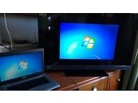 "toshiba 15"" L450 hdmi licensed win7 new install laptop"