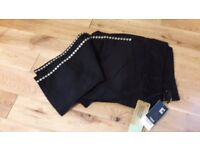 Next Ladies Tall Black Trousers size 18 with tags