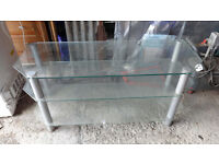 Glass TV stand suitable for large TV