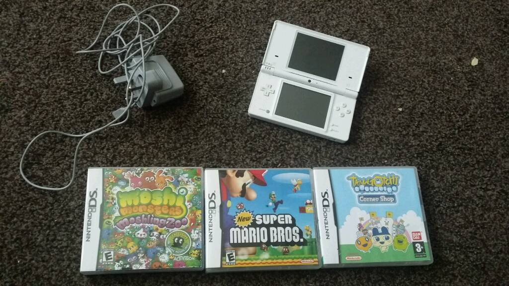 White Nintendo DSin Swindon, WiltshireGumtree - Ds with charger plus 3 games super Mario Bros moshi monsters and tamagotchi