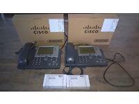 4 x Cisco IP phones plus 2 spare power adapters