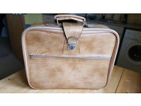 Beige leather suitcase by Boots. Only £8!