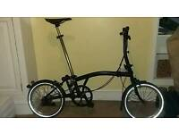 AWESOME BROMPTON BICYCLE BLACK EDITION S2L WITH UPGRADES AND NEW PARTS