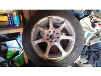 BK RACING 15 INCH ALLOYS,MULTIFIT,4 AND 5 STUD FITTING,IN NEED OF A REFURB