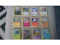 Pokemon cards bundle of 135 (all different), includes 5 hollow/reverse/rare cards, £30