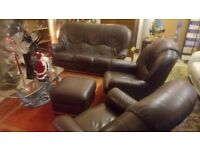 Small brown vintage leather 3 piece suite ONLY £95...CHEAP local DELIVERY Stalybridge SK15 3DN