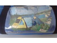 3man tent plus camping equipment . Cooker air bed water container extra pegs