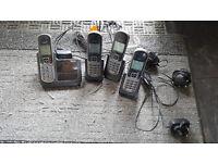 iDect T1i 1282 - Quad Set - 4 Handsets - Phones - Answering Machine