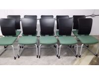 STEELCASE STRAFOR RECEPTION / MEETING CHAIRS WITH HIGH BACKS - 20 AVAILABLE