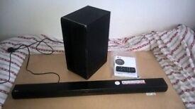 LG Soundbar, LAS455H, with wireless sub, HDMI, Bluetooth, Optical, 3.5 jack, (North Dorset)