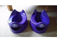 Pourty Potty x 2 Pair easy pour Potties Toilet Training