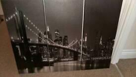 3 part Brooklyn bridge canvas