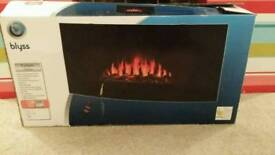 Flue less electric fire, wide 900mm. Remote control