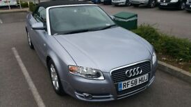 2008 Audi A4 Convertible 2.0 TDi silver - new cambelt and camshaft! Long MOT - excellent condition