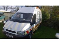 ford transit 350 mwb high top 2006-06-plate, 2400 cc turbo diesel,only 123,000 miles, new mot