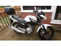 2016 YAMAHA YBR 125CC (ONLY 850 MILES FROM NEW)100% MINT CONDITION IN WHITE/BLACK,SERVICED,1 OWNER