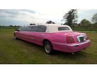 Beautiful Highly Spec'd Limo Finished in Pink inside & Out