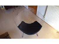 bertoia style diamond chair.