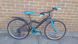 """Blue Btwin 24"""" wheel bike"""