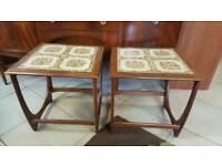Vintage MID Century G Plan Fresco Teak Tiled Coffee Side Table