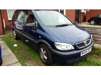 Vauxhall Zafira 1.6 Long MOT 7 Seater Low Mileage (63700) Good Runner Must Go This Weekend !!!!!!