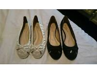 x2 womens flat shoes size 5