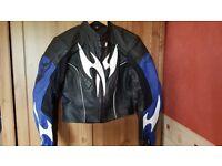 Hein gericke womans leather jacket size 10/12