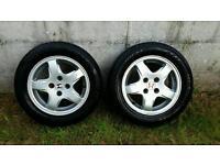 "Pair matching tyres. 14"" 185/60/14 with free honda alloys! Alloy / honda / tyres / wheels /"