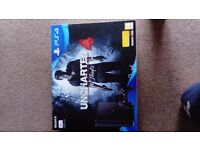 New PS4 jet black 500GB with uncharted 4 (a thief's end)