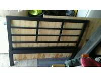 4ft metal double bed with mattress