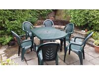 Garden Furniture Set - Table and 6 Chairs