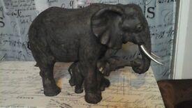 Bronze effect elephant ornament