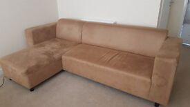 Suede Corner Sofa & 2 Seater Sofa For Sale in Fitzwilliam £80
