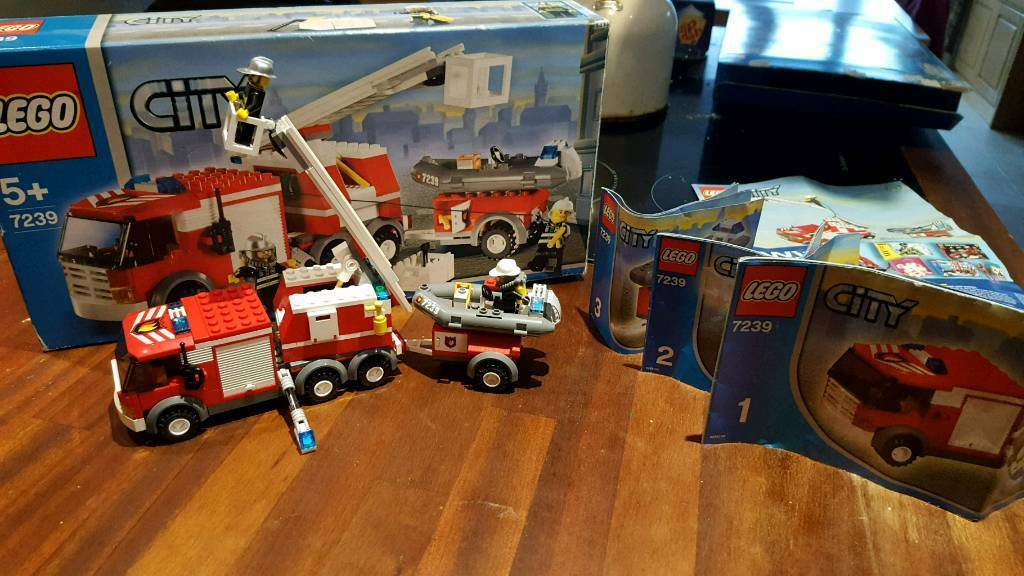 Lego 7239 Fire Truck And Boat In Kidlington Oxfordshire Gumtree