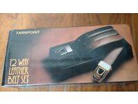 Vintage Tarnpoint 12 Way Leather Belt set (3 belts and 2 buckles)