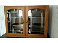 Glass display unit kitchen cupboard