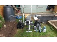 *REDUCED* Weight bench + a total of 200kg of weights + 2 dumbbells + 2 barbells. £300 ONO - read ad.
