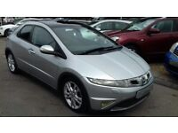 2009/59 HONDA CIVIC 2.2 I-CDTi ES GT 5 DOOR, GREAT SPEC WITH PANORAMIC ROOF AND SAT NAV SYSTEM