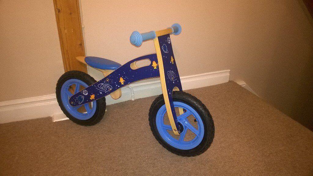 Childs wooden balance bike