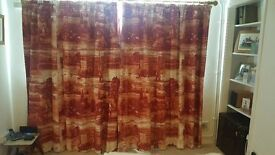 Timorous Beasties curtains, Glasgow Toile fabric. Looking for quick sale