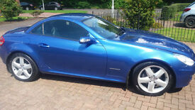 2007 Mercedes 200 SLK, BLUE, 33600 mls. FSH inc Oct 2016, MOT Oct 2017. Lovely car.