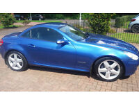 2007 Mercedes 200 SLK, BLUE, 33900 mls. FSH inc Oct 2016, MOT Oct 2017. Lovely car.