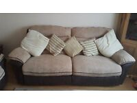 2 large 2 seater reclining sofas for sale